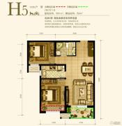 永定河孔雀城英国宫2室2厅1卫81平方米户型图