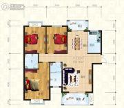 锦天・生态城3室2厅2卫132平方米户型图