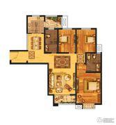 发展红星城市广场3室2厅2卫134--137平方米户型图