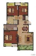 中富香缇半岛3室2厅1卫90平方米户型图