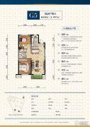 中航城・两河流域2室2厅1卫0平方米户型图