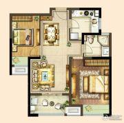 港龙新港城2室2厅1卫81平方米户型图