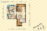 恒基雍翠名门2室2厅1卫0平方米户型图