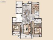 美的・顺城府3室2厅2卫127平方米户型图