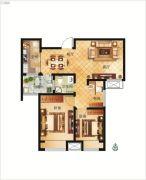 大正翡翠花园3室2厅1卫87平方米户型图