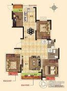 润合花园4室2厅2卫134平方米户型图