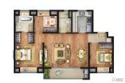 万科安亭新镇3室2厅2卫0平方米户型图