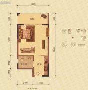 蓝海名都1室1厅1卫38--40平方米户型图