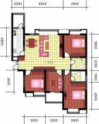 中天优诗美地4室2厅2卫160平方米户型图