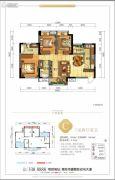 美宇白马湖水街3室2厅2卫99平方米户型图