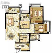 雅居乐御龙山3室2厅1卫95平方米户型图