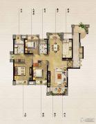 保利原乡3室2厅2卫140平方米户型图