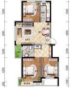 格林阳光城3室2厅2卫96平方米户型图