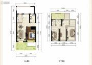 龙斗壹号・海岸城2室4厅2卫194平方米户型图