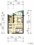 傲景观澜九龙湾1室1厅1卫0平方米户型图