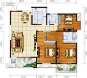 宏府�d翔九天3室2厅2卫138平方米户型图