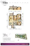 广物滨江海岸3室2厅2卫120平方米户型图