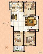 鼓浪屿小镇3室2厅1卫120平方米户型图
