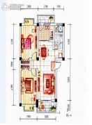 晋海御园二期2室2厅2卫0平方米户型图