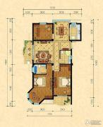 巴黎都市3室2厅2卫128平方米户型图