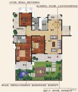 香江帝景3室2厅2卫152平方米户型图