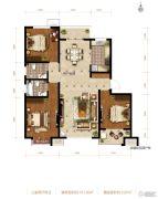 滨河龙韵3室2厅2卫131平方米户型图