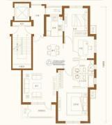 金融街・金色漫香苑3室2厅2卫130平方米户型图