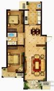 懿品府2室2厅1卫107平方米户型图