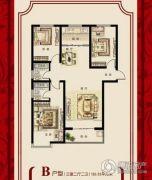 盛世郡3室2厅2卫126平方米户型图
