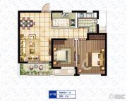 康桥溪棠2室2厅1卫0平方米户型图