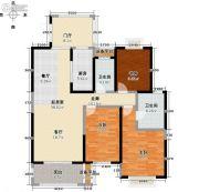 玖��新城3室0厅2卫121平方米户型图
