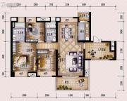保利西海岸3室2厅2卫128平方米户型图