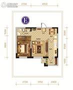 永安城1室1厅1卫0平方米户型图