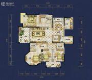 恒泰珑湖4室2厅2卫212平方米户型图