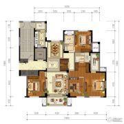 东泰・春江名园4室2厅2卫175平方米户型图