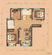 东岳国际3室2厅1卫122平方米户型图