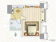 恒大翡翠华庭1室1厅1卫45平方米户型图