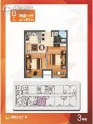 南通国城生活广场 2室1厅0卫61平方米户型图