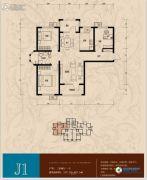 香邑溪谷3室2厅1卫107平方米户型图