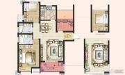 神州通北城新境3室2厅2卫98平方米户型图