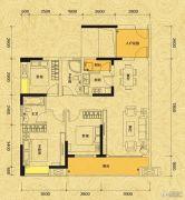 佳兆业东江新城3室2厅1卫106平方米户型图