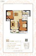 保利鑫城2室2厅1卫90平方米户型图