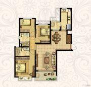 恒大御景湾3室2厅2卫126平方米户型图