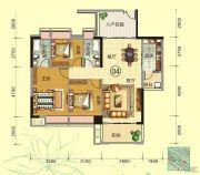 天鹅湾3室2厅2卫122平方米户型图