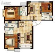 天昱・凤凰城3室2厅2卫113平方米户型图