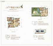 大同江鸿・铂蓝原著4室3厅5卫258平方米户型图
