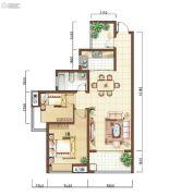 上海公馆2室2厅1卫91平方米户型图