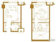 泉景天沅LOFT1室1厅1卫41平方米户型图