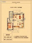 碧桂园天玺湾266平方米户型图