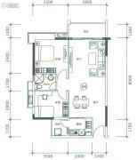 正太广场3室2厅1卫86平方米户型图